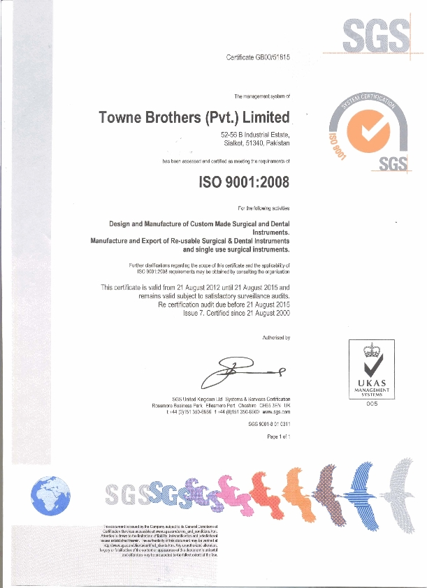 T O W N E Brothers (Pvt) Ltd  Manufacturer Of Surgical, Dental